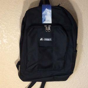 Everest Backpack, black / front and side pockets